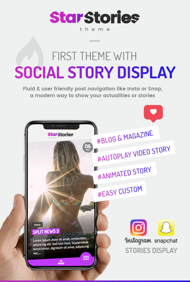 StarStories Theme - First theme with Story Display